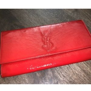 YSL Belle de Jour Clutch Leather Large